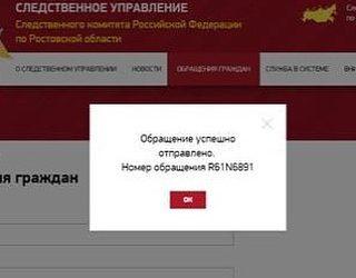 Поданы заявления в Прокуратуру Ростовской области и в Следственный комитет РФ